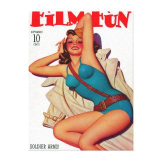 Film Fun Magazine Cover 10 Gallery Wrap Canvas