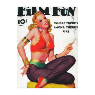 Film Fun Magazine Cover 11 Canvas Print