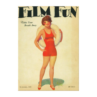 Film Fun Magazine Cover 2 Canvas Print