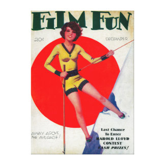 Film Fun Magazine Cover 3 Gallery Wrapped Canvas