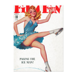 Film Fun Magazine Cover 5 Gallery Wrapped Canvas