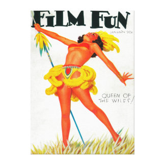 Film Fun Magazine Cover 6 Stretched Canvas Print