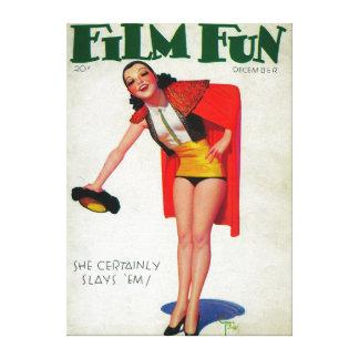 Film Fun Magazine Cover 8 Stretched Canvas Prints