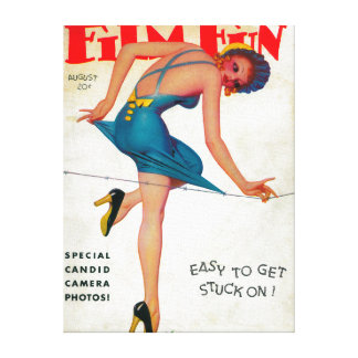 Film Fun Magazine Cover 9 Canvas Print