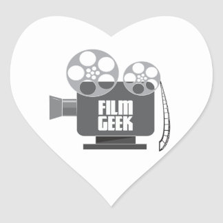 Film Geek Heart Sticker
