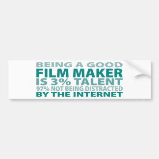 Film Maker 3% Talent Bumper Sticker