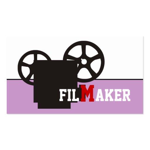 Film maker/director/Movie maker business cards Business Card Template