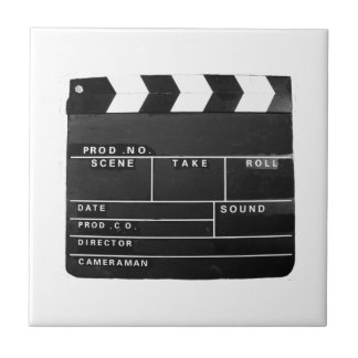 Film Movie Video production Clapper board Tile