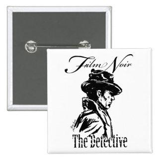 Film Noir Detective 15 Cm Square Badge