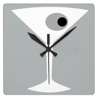 Film Noir Martini Glass Wall Clock