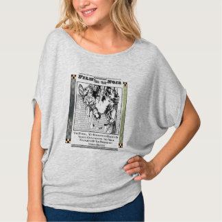"""""""Film Noir"""" Women's Flowy Circle Top Tee Shirt"""