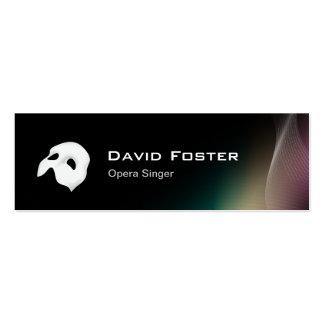 Film Opera Drama Singer Actor Actress Director Business Card Template