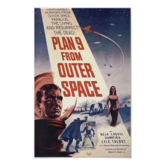 """Film poster """"Plan 9 from Outer Space"""""""