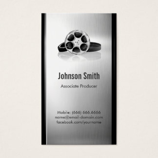 Film Producer - Brushed Stainless Steel Metal Business Card