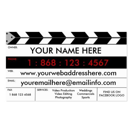 Film Production Film Slate Business Card : Zazzle