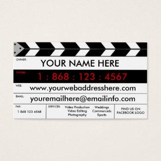 Film Production Film Slate Business Card