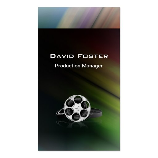 Film Production Manager Director Producer Cutter Business Card Template