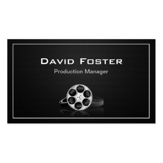 Film Production Manager Director Producer Cutter Double-Sided Standard Business Cards (Pack Of 100)