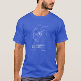 Film Reel Blueprint T-Shirt for Filmmakers