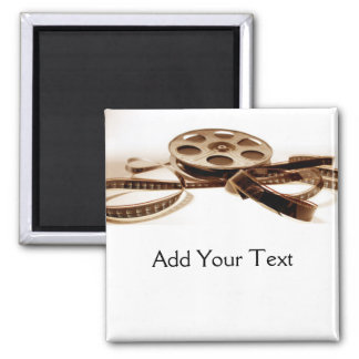 Film Reel in Sepia Tones Background Magnet