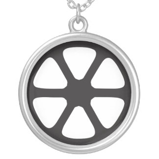Film Reel Silver Plated Necklace