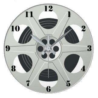 FILM REEL (WITH BLACK NUMBERS) Wall Clock