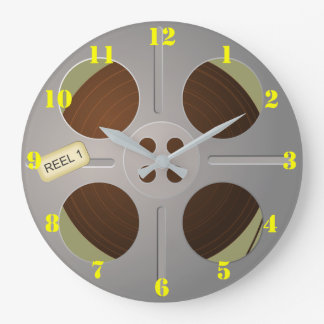 FILM REEL (WITH NUMBERS) Wall Clock