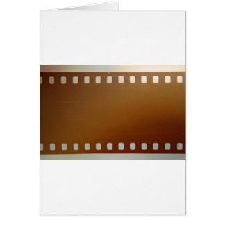 Film roll color greeting card