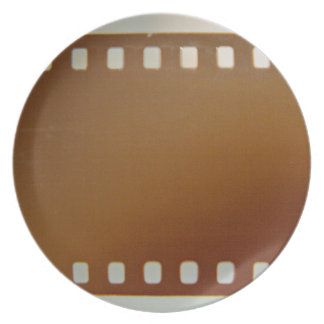Film roll color dinner plates