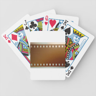Film roll color poker deck