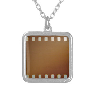 Film roll color silver plated necklace