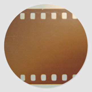 Film roll color round sticker