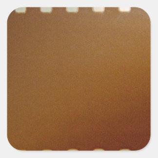 Film roll color square sticker