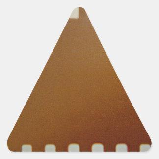 Film roll color triangle sticker