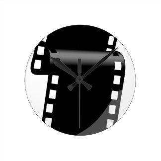 Film Roll Round Clock