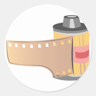 Film Roll Round Sticker
