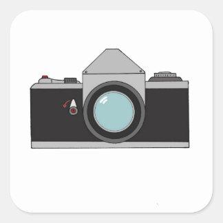 Film SLR Camera Square Sticker