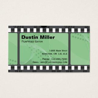 Film Strip - Green Business Card