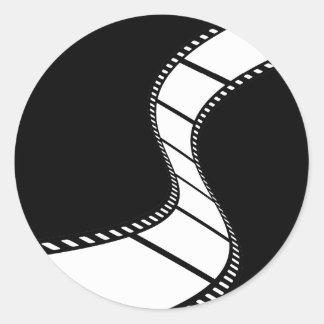 Film Strip Round Sticker