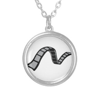 Film Strip Silver Plated Necklace