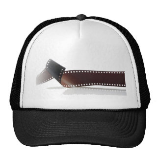 Film Strip with Reflection on White Cap
