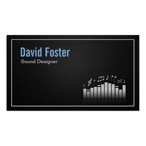 Film TV Audio Sound Designer Director Business Card Template