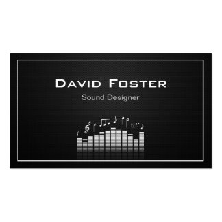 Film TV Audio Sound Designer Director Pack Of Standard Business Cards