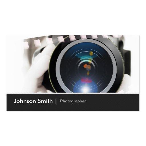 Film TV Photographer Cinematographer Camera Lens Business Card Template