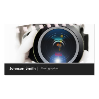 Film TV Photographer Cinematographer Camera Lens Pack Of Standard Business Cards