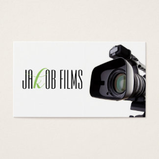 Film Video Camera Movie Director Filming Business Card