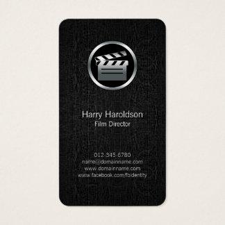 FilmDirector Clapperboard BlackGrunge BusinessCard