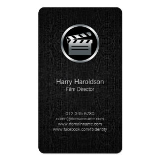FilmDirector Clapperboard BlackGrunge BusinessCard Double-Sided Standard Business Cards (Pack Of 100)