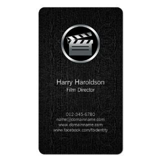 FilmDirector Clapperboard BlackGrunge BusinessCard Pack Of Standard Business Cards