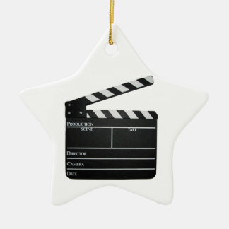Filmmaker Film slate clapboard movie ORNAMENT
